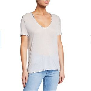 Zadig & Voltaire Tino Silver Foil T-Shirt